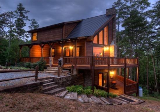 Cabin at dusk