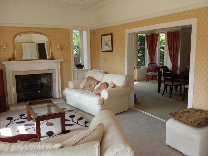 Nice big lounge leading to dining room.