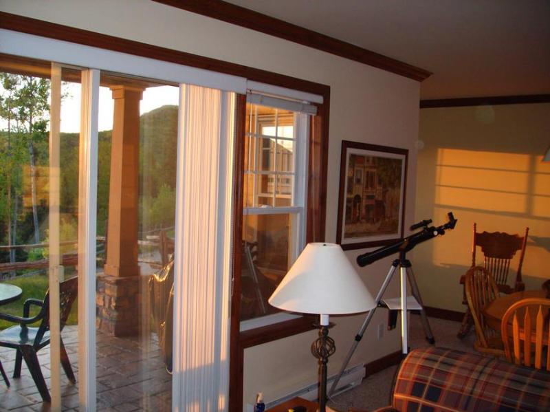 Mooie schilderachtig uitzicht vanuit de woonkamer