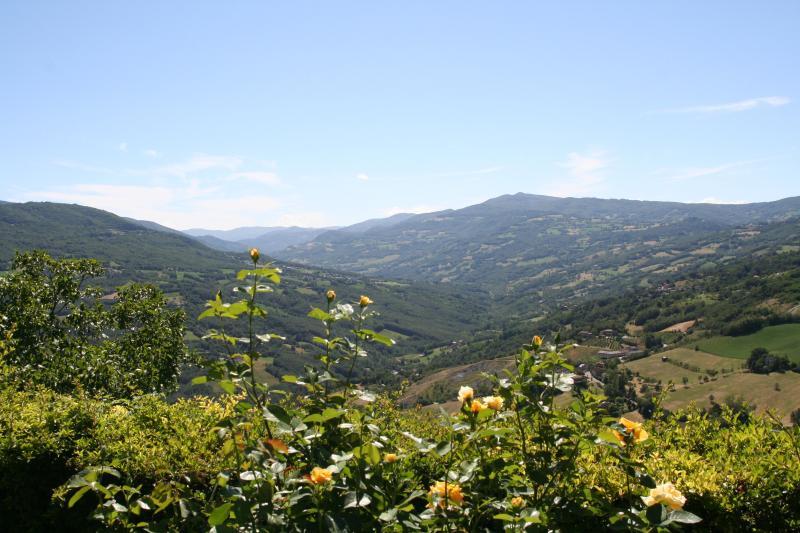 Vista sulla vallata dal giardino