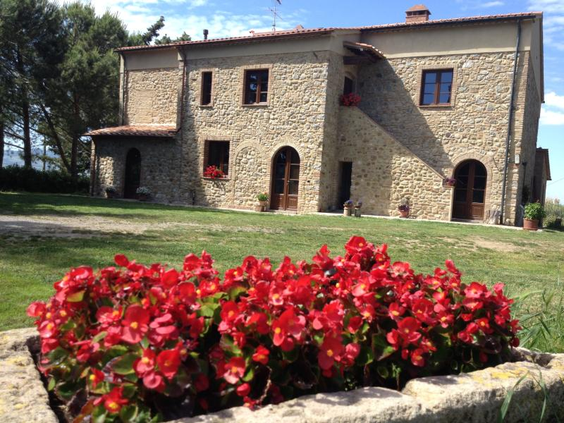 Century farmhouse, surrounded by ancient trees, like cypresses, pines and oaks. With 4 apartments.