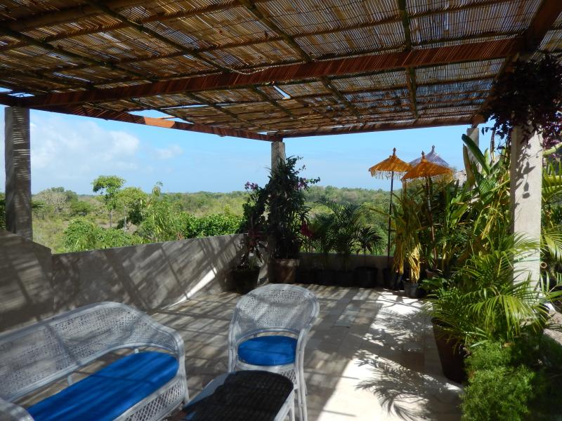 private terrace upstairs with beautiful views