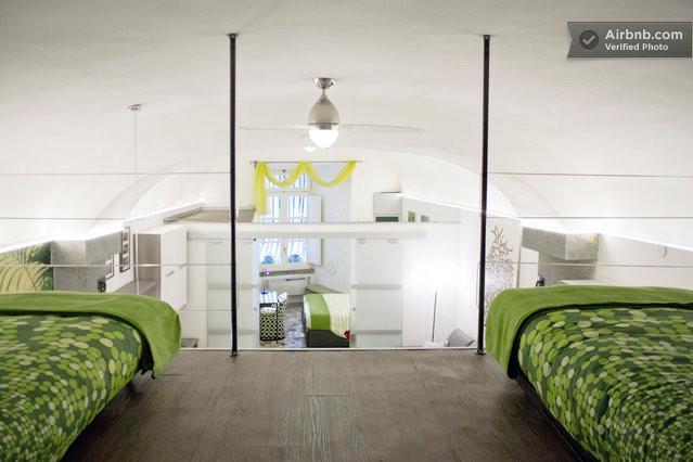 A vista do loft mezanino