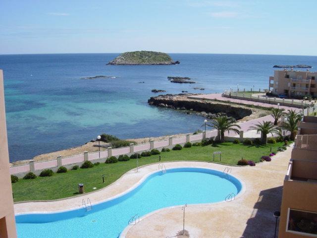 Balcony with Pool & Sea views