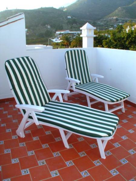 Sunbathing in the terrace