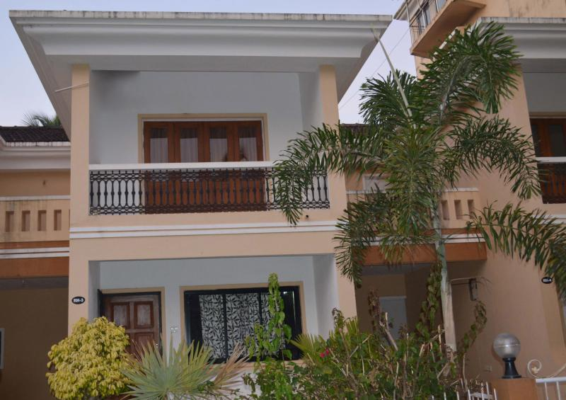 The beautiful villa exterior
