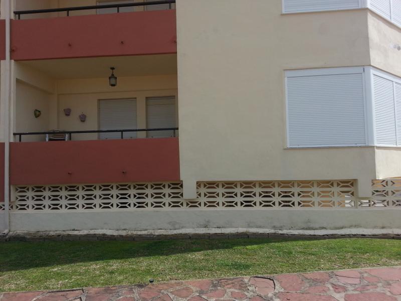 Vista del apartamento desde la arena.