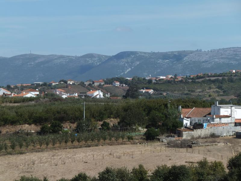 View of the Serra dos Candeeiros hills from our villa