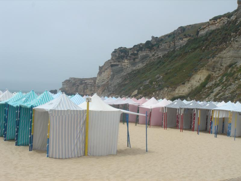 Beach huts on Nazare beach