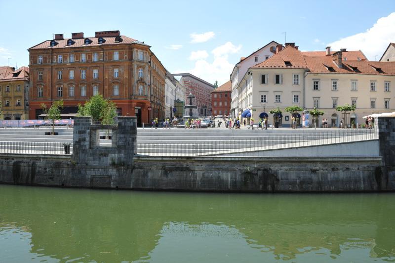 Ljubljana - view across the Ljubljanica river