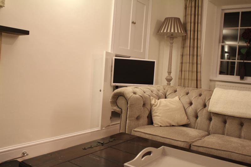 Tv from hidden cupboard