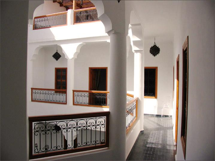 Walkway to bedrooms