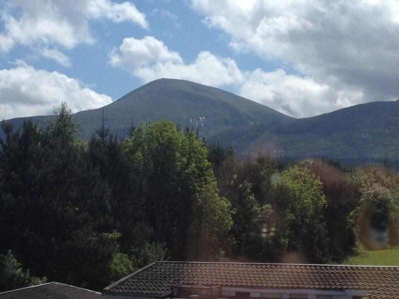 Panoramic view of Mourne Mountains from accommodation