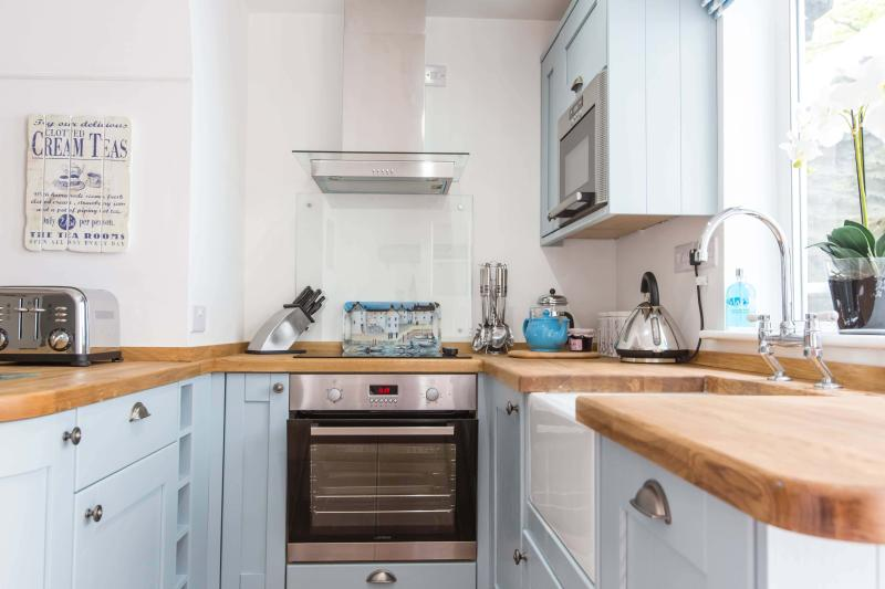 New kitchen is well equipped for self catering