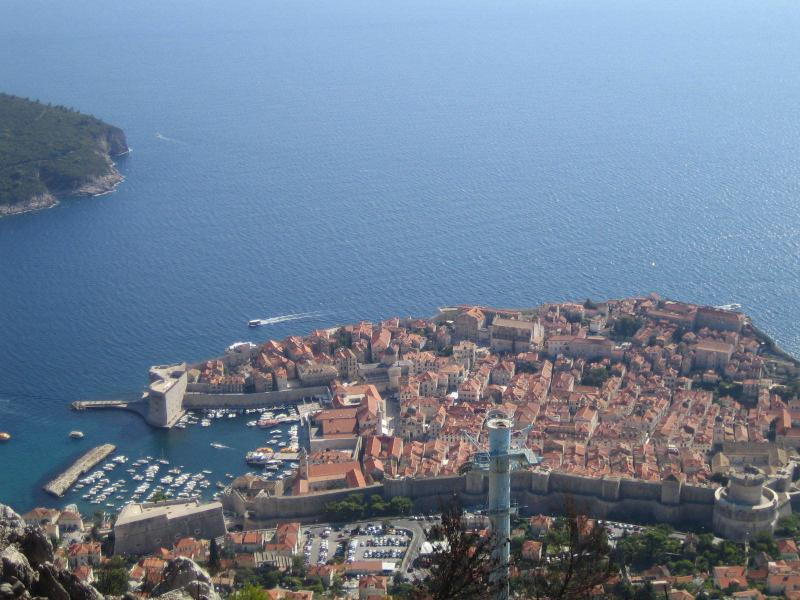 Panoramic view of the town of Dubrovnik