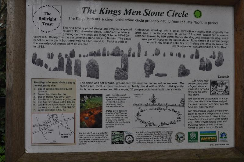 few minutes drive: The Kings Men Stone Circle