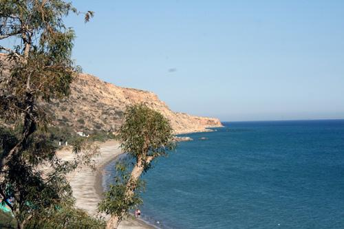 The unspoilt reaches of Pissouri Bay
