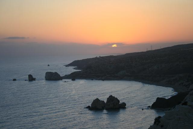 Sunset over Aphrodite's Rock