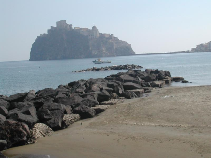 Fisherman's beach with Aragonese castle