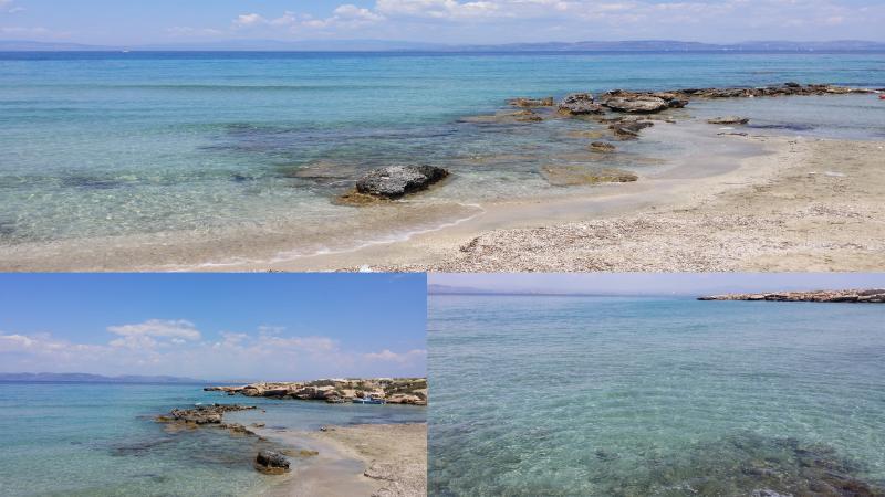 Photos de la plage près de notre villa.