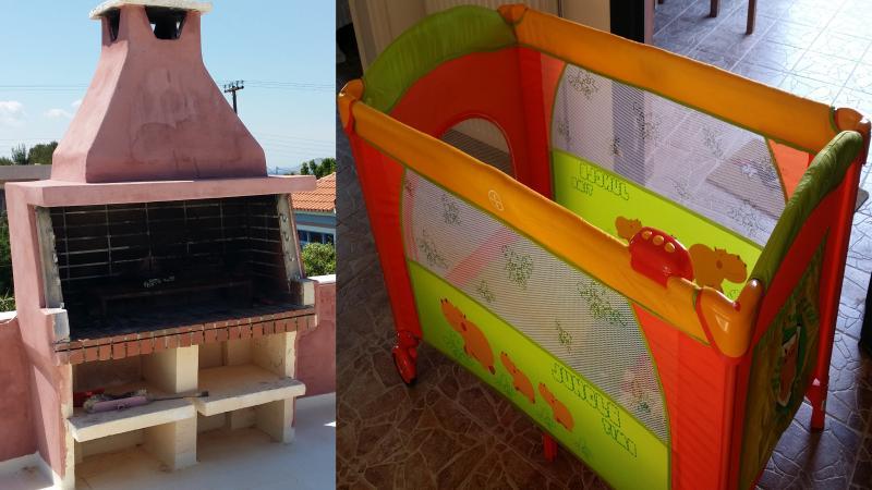 Utilisation d'un barbecue ou un lit pour un enfant en bas âge peut être organisée sur demande.