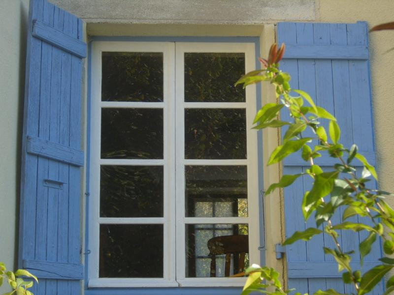 The sunny blue shutters.