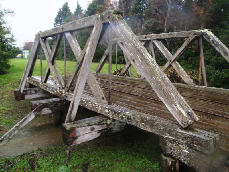 Lumsden was a central point for the old steam train network. Relics include a lovely trestle bridge.