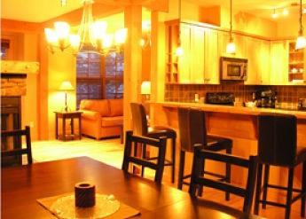 SELKIRK ONE: Enjoy the open kitchen concept, living room with fireplace and dining table