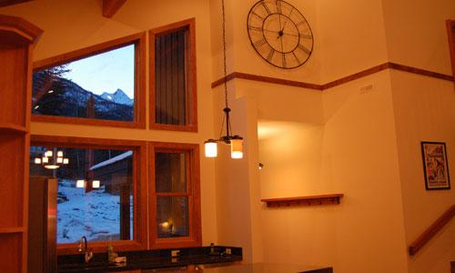 FIR TREE LODGE : Dine with a view in a kitchen designed with the cook in mind complete with wine fridge and concrete counter tops...
