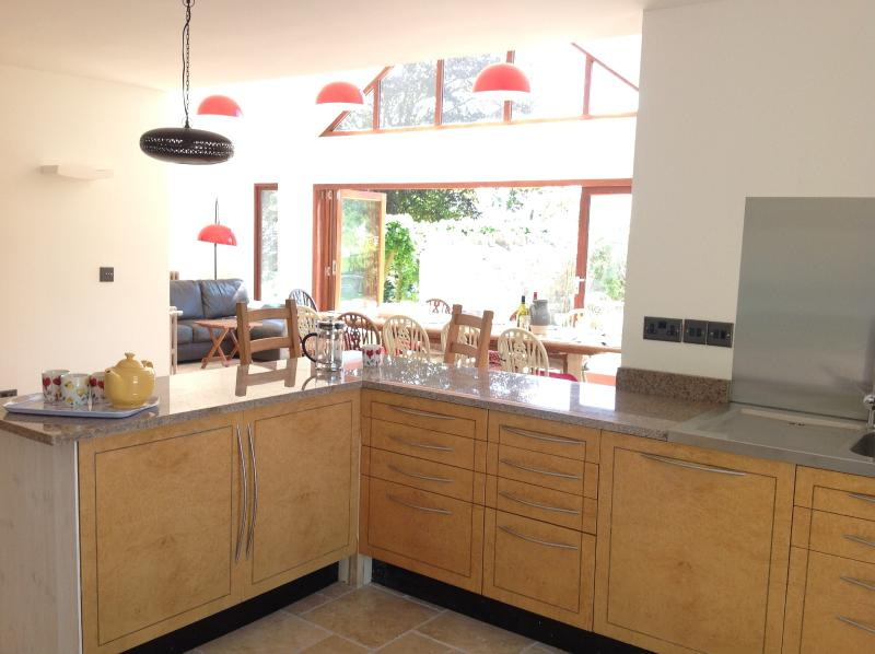 Kitchen is sociably open plan to the Dining Room