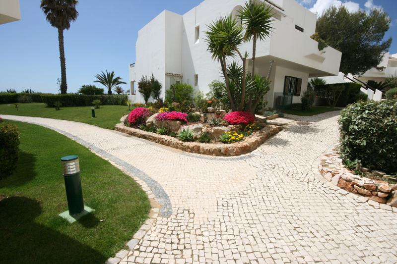 Gardens and path to sea