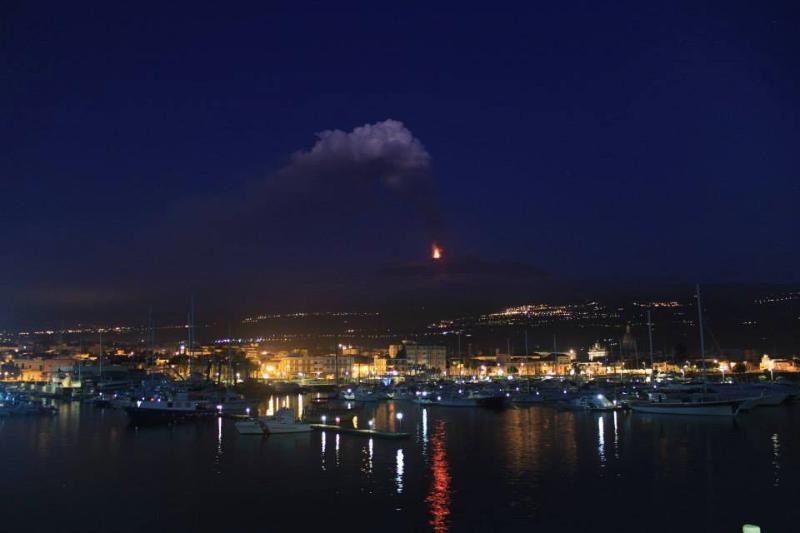 Porto dell'Etna(Riposto) ed eruzione