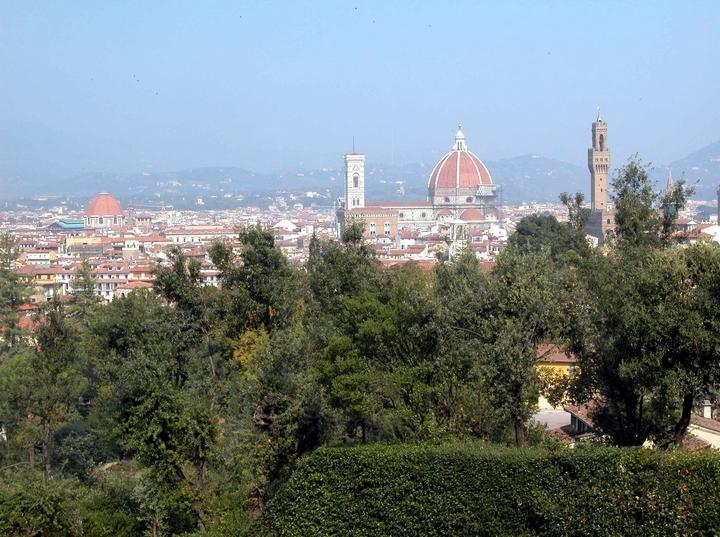 city view from Boboli gardens