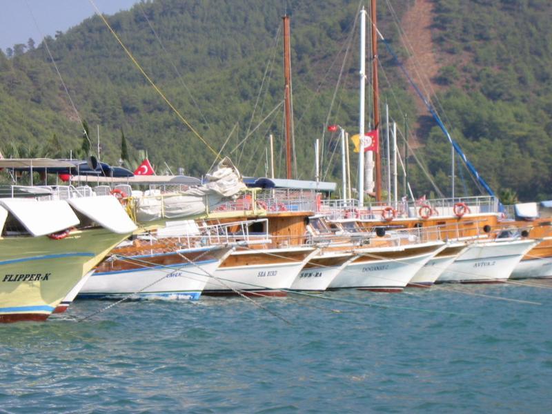 Parte del puerto de Gocek