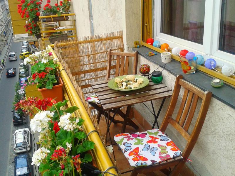 Genießen Sie unsere sonnigen Balkon!