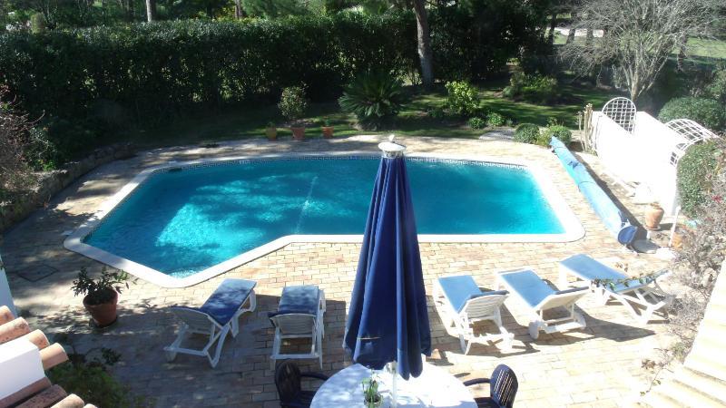 Arial vue piscine