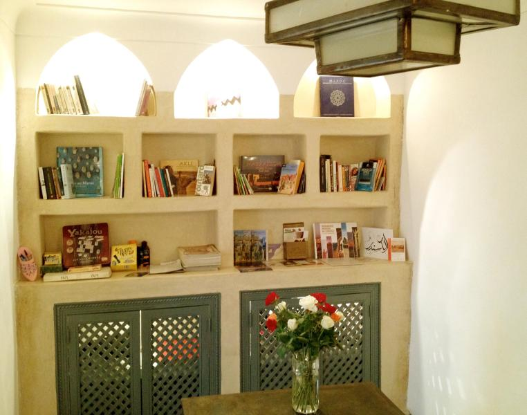 the library in the dinning room