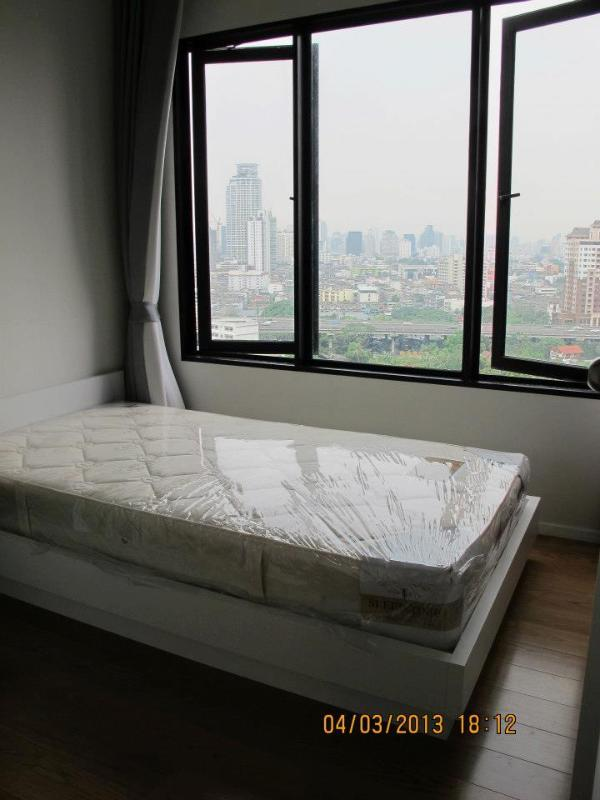 Single bed with wardrobe