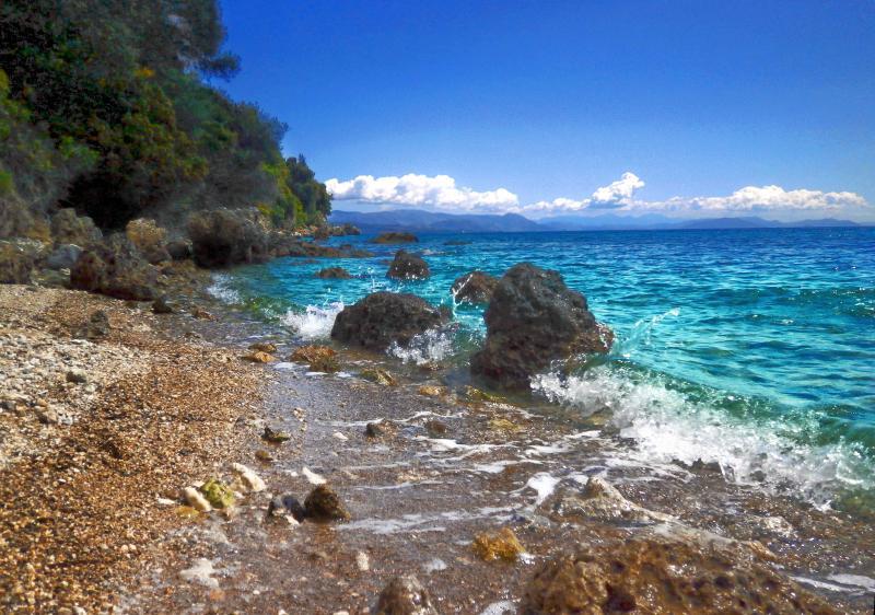 Secluded beach in Pirgi