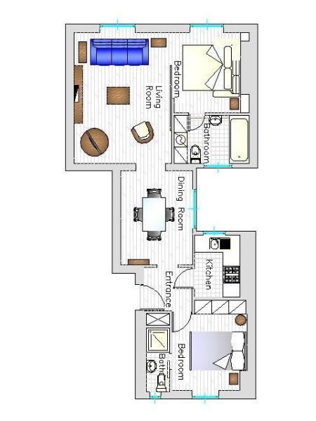 The flat's plan