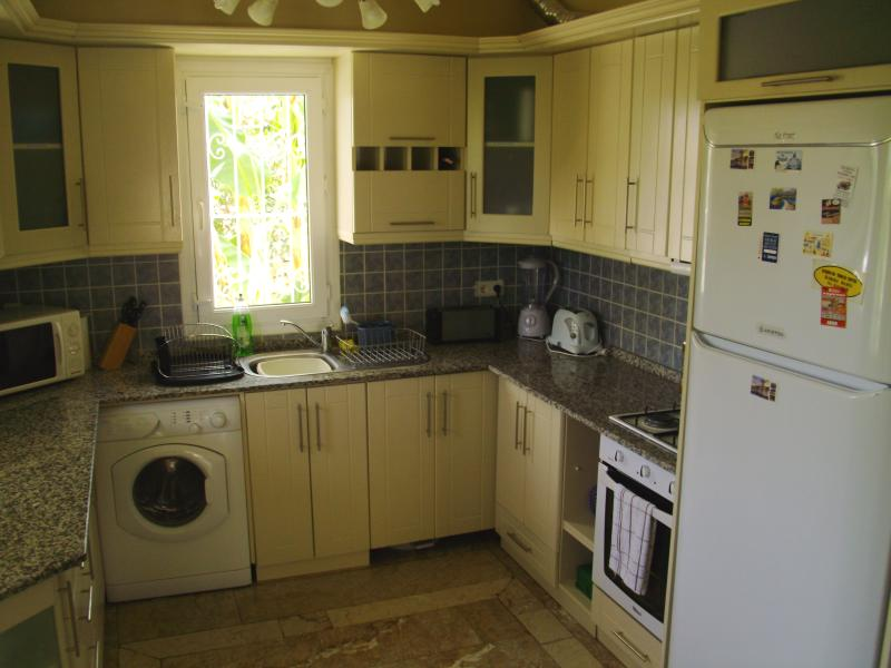 Fully equipped kitchen, with everything you should need, + a water cooler for chilled drinks.