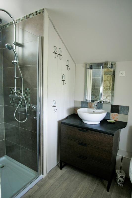 salle de douche WC en rez de chaussée