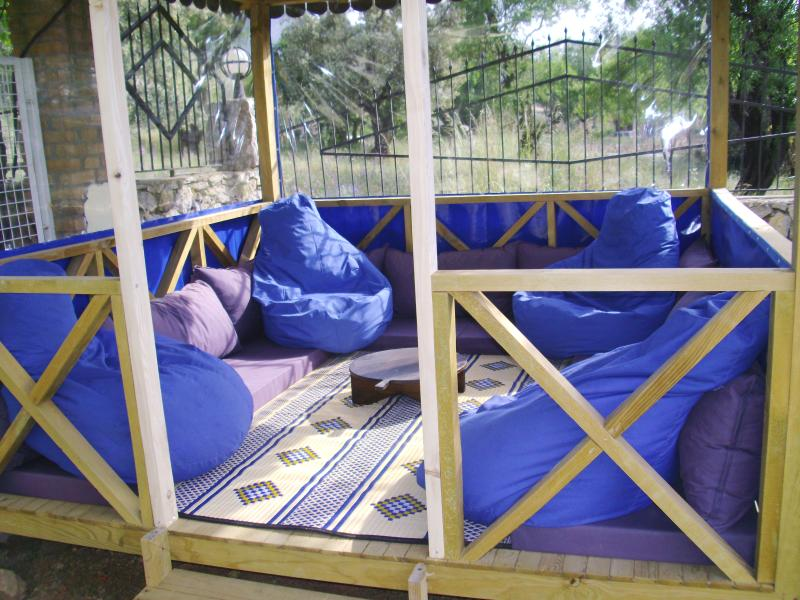 Chill out in our Turkish seating area with a drink - book - or just grab 40 winks.
