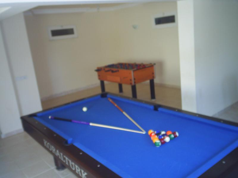 Pool table, table football and table tennis to keep the kids (and adults) entertained.