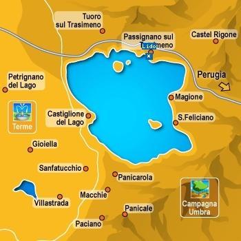 Map of the Trasimeno area