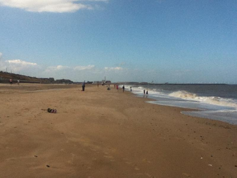 Sandy beach at nearby Gorleston