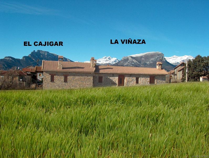 Las 2 casas: EL CAJIGAR 6/8 plazas y LA VIÑAZA 4/6 plazas