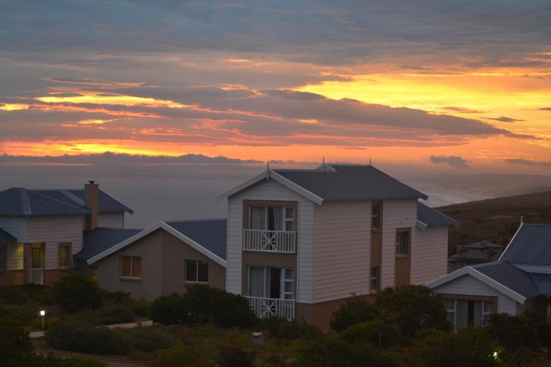 Sunset over Dana Bay beach, from bedroom window