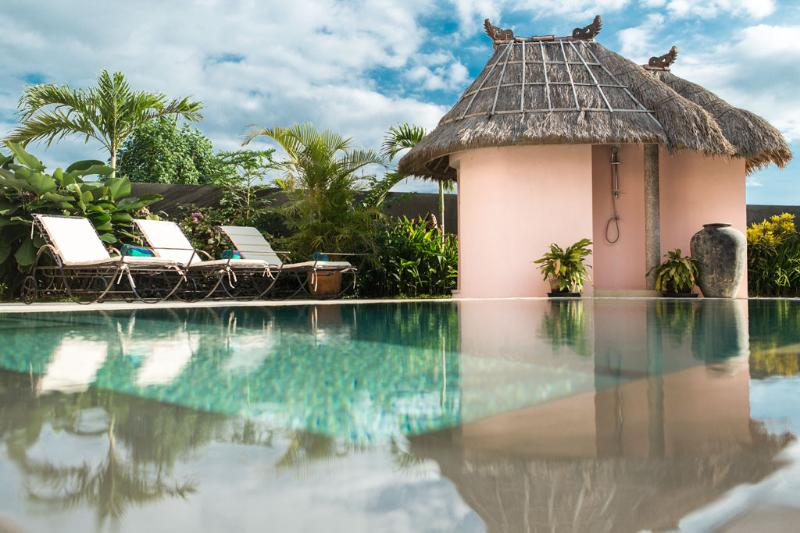 Each villa features a private pool set amongst landscaped tropical gardens.