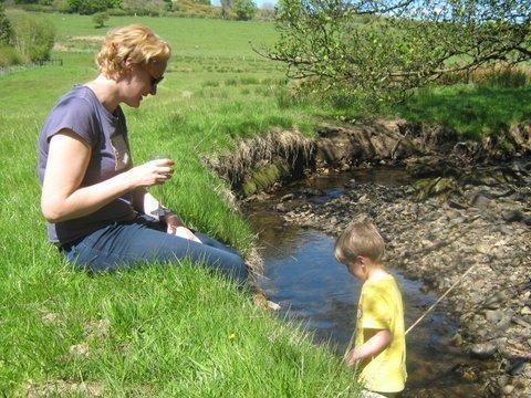 Paddling in the stream